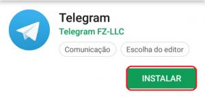 baixando o telegram